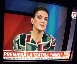 Maia Morgenstern într-o premieră a Teatrului Municipal Ariel Râmnicu Vâlcea