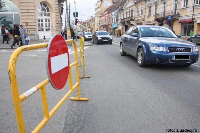 Restricţii de circulaţie rutieră pe mai multe străzi din Craiova