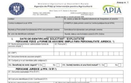 APIA a demarat campania de informare a fermierilor privind depunerea Cererii Unice de Plată 2018