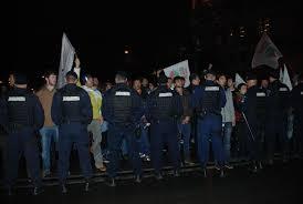 Jandarmii olteni vor continua asigurarea protecției protestatarilor