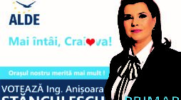 """Anișoara STĂNCULESCU, candidat ALDE la Primăria Craiova : """"Voi solicita includerea în bugetul local a cheltuielilor eligibile pentru promovarea sănătății în Craiova"""""""