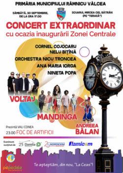 Pe 30 septembrie, Zona Centrală a municipiului este redată râmnicenilor printr-un complex de evenimente culturale