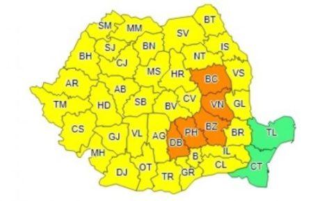 Cod Galben de ploi şi vânt în Oltenia