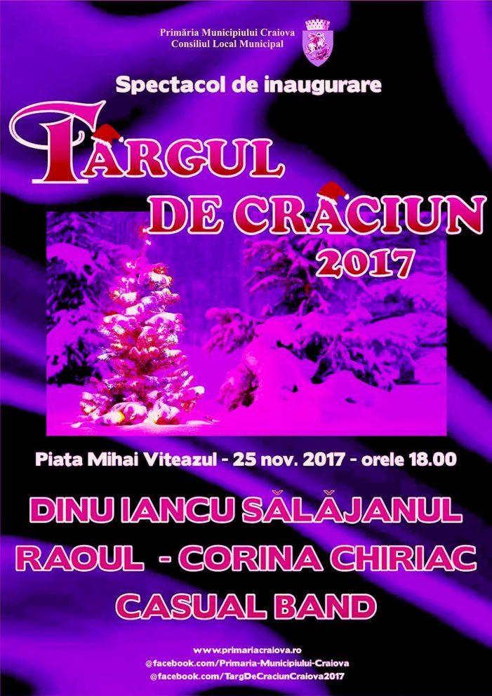 Craiova: Târgul de Crăciun din Craiova își deschide porțile pe 25 noiembrie