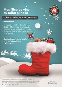 Din Decembrie, Centrul Comercial Auchan Craiova dă startul la colind și fapte bune!