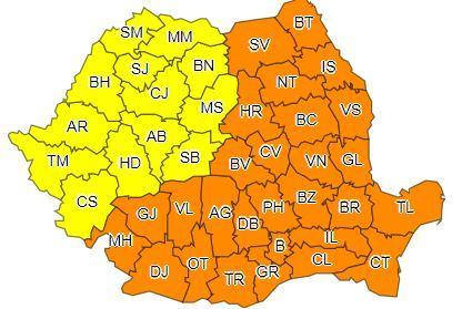 Oltenia, sub cod portocaliu de ger pana pe 1 martie