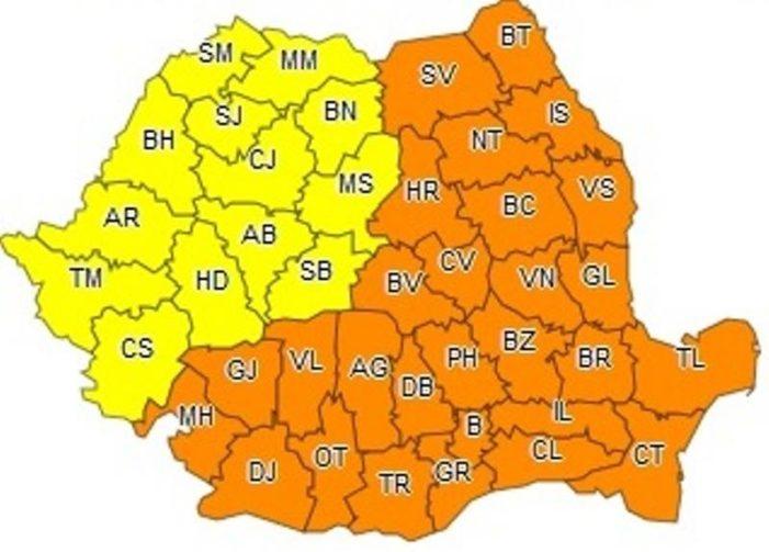 Ger năprasnic in Oltenia! Cod portocaliu pana vineri seara
