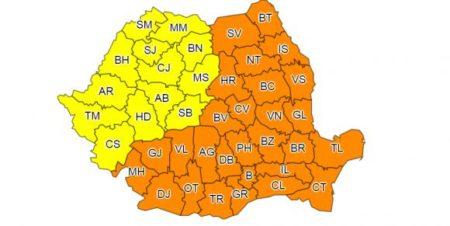 Cod portocaliu de ger in Oltenia