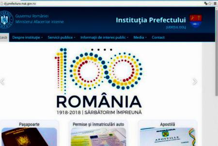 Noua pagina web a Prefecturii Dolj