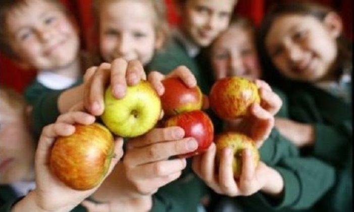 Elevii vor primi fructe și legume la școală. Legea a fost promulgată de președintele Klaus Iohannis