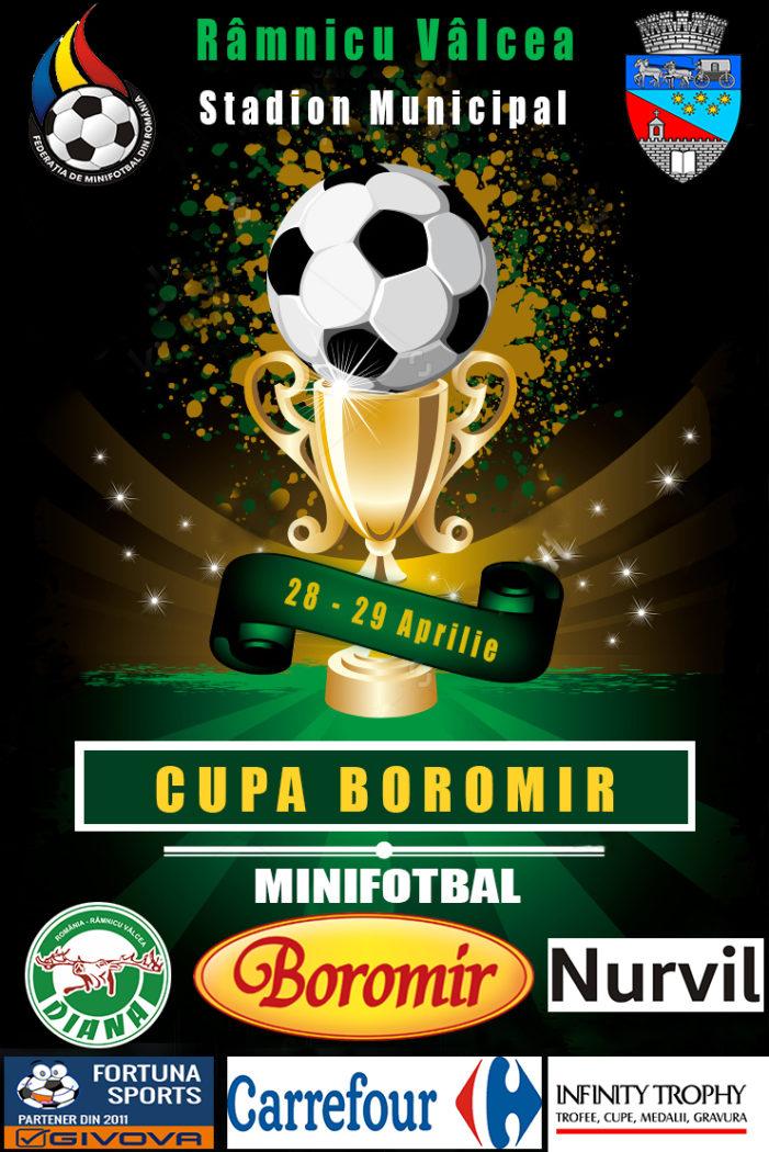 Ramnicu Valcea: Cupa Boromir la minifotbal, 28-29 aprilie 2018