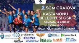 Handbal Feminin: SCM Craiova –  Kastamonu Belediyesi GSK, sambata, de la ora 16.30