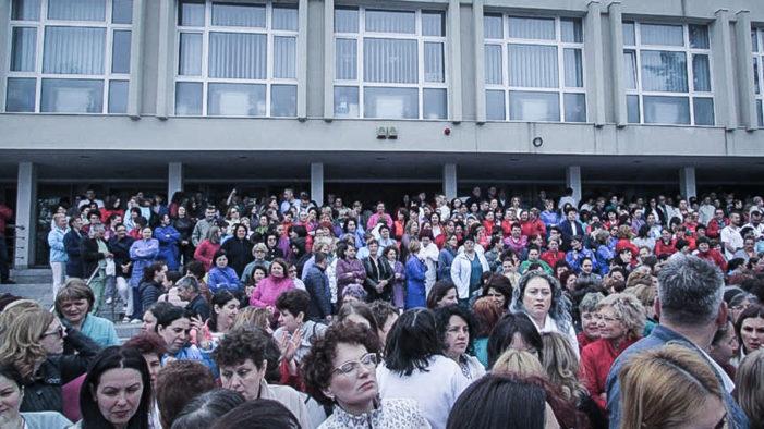 Protest la Spitalul de Urgenţă Craiova