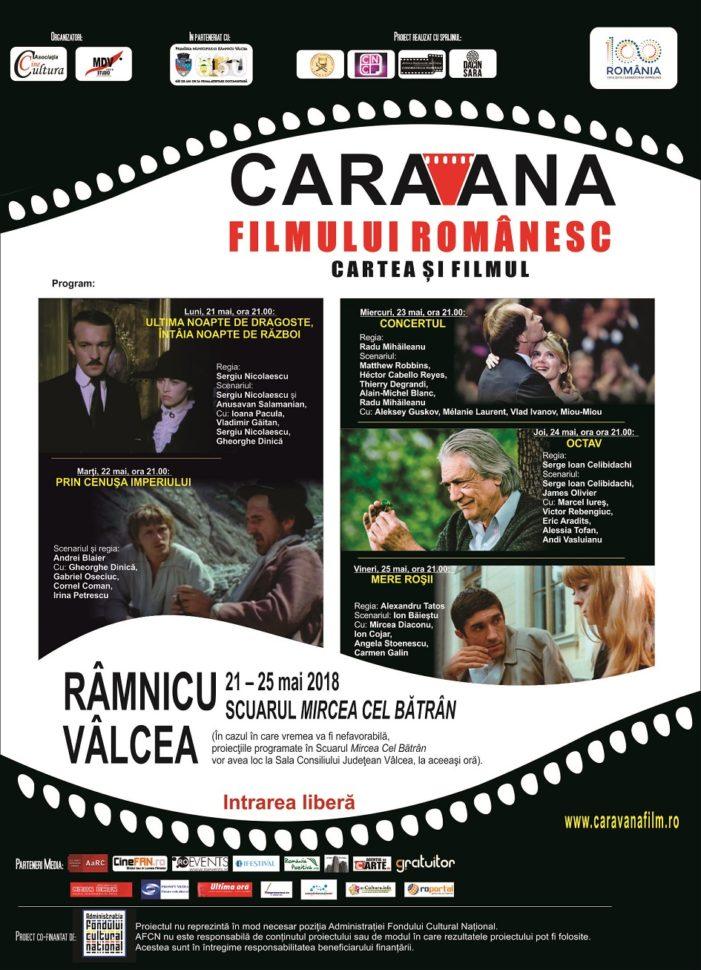 """Caravana filmului românesc – Cartea şi filmul"""" ajunge la Râmnicu Vâlcea, în perioada 21 – 25 mai"""