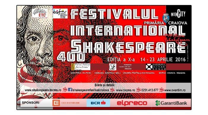 Festivalul Internațional Shakespeare – 14 – 26 aprilie 2016