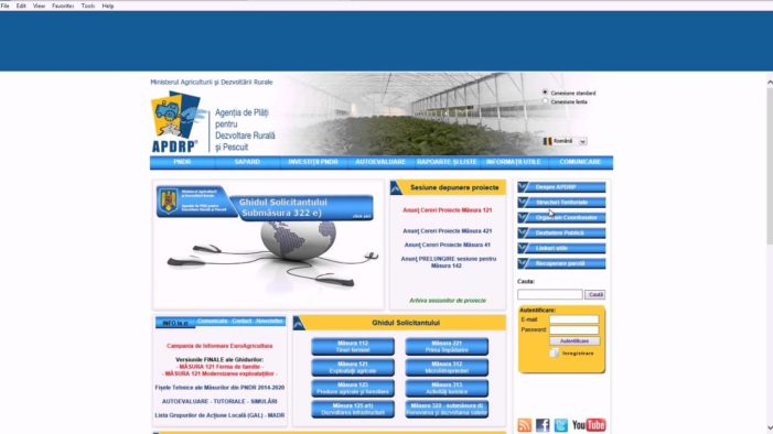 AFIR lansează o platforma online destinata accesarii de informaţiilor privind obţinere de fondurile europene pentru agricultură şi dezvoltare rurala