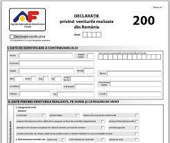 25 mai, termenul limită pentru depunerea Declarației 200