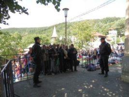 Jandarmii olteni asigura ordinea publică la Mănăstirea Brâncoveni cu ocazia Izvorului Tămăduirii