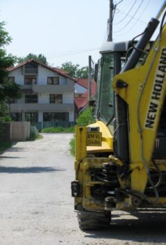 Primăria Vâlcea: Au început lucrările de reabilitare a străzii Dr. Romulus Popescu