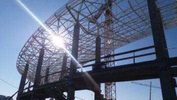 Gorj: Infrastructura la Stadionul Municipal din Târgu-Jiu finalizata în proporție de 80%. Noul stadion va fi gata în perioada mai-iunie 2017
