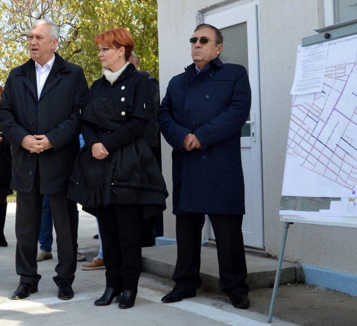 Dolj: Ion Prioteasa și Lia Olguța Vasilescu au participat sâmbătă, la recepția lucrărilor de reabilitare și extindere a sistemului de alimentare cu apă și de canalizare al localității Băilești