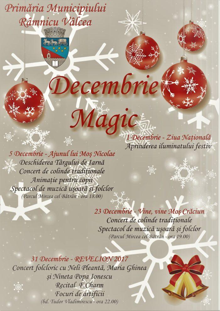 Decembrie Magic – evenimente festive în Râmnicu Vâlcea