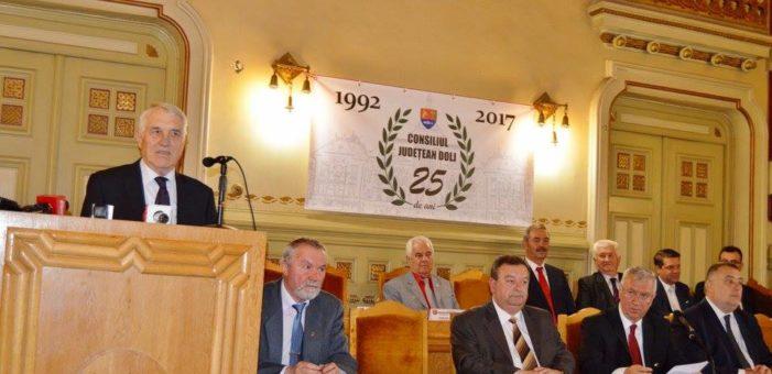 Consiliul Județean Dolj a aniversat 25 de ani de la reînființare