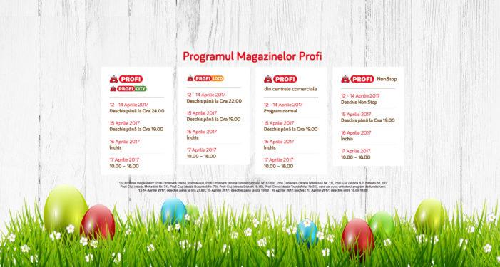 Programul de Paşte al magazinelor PROFI