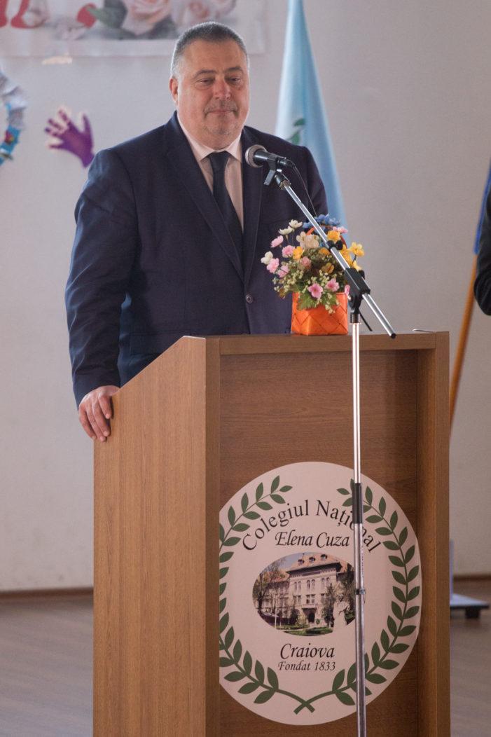 Mesajul primarului Mihail Genoiu cu prilejul aniversarii a 184 de ani de existenţă a Colegiului Național Elena Cuza