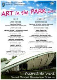 """Craiova: Art in the Park, in fiecare weekend, pe scena Teatrului de Vară din Parcul """"Nicolae Romanescu"""""""