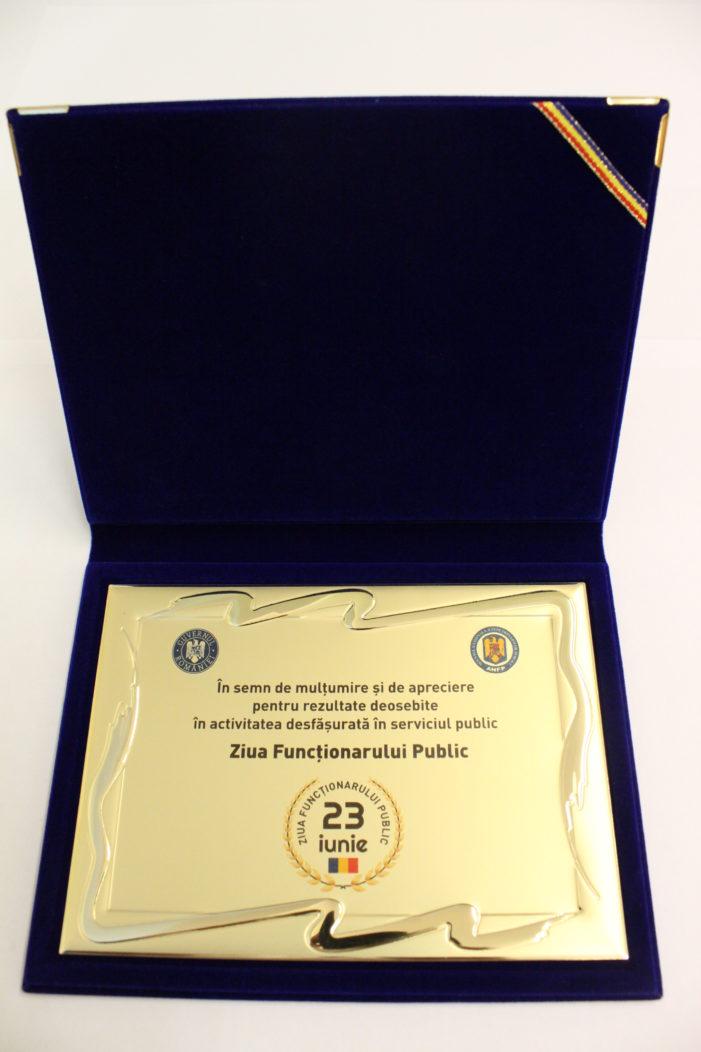 Direcţia Publică Comunitară de Evidenţă a Persoanelor Dolj, premiată de Agenţia Naţională a Funcţionarilor Publici