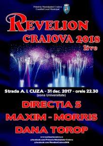 Revelion 2018 in Craiova.  Cine le cântă craiovenilor în noaptea dintre ani
