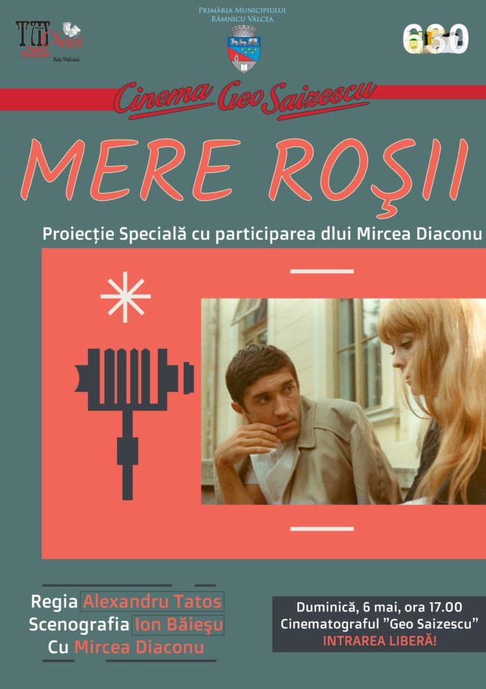 """Duminică, 6 mai, Mircea Diaconu va participa la o proiecţie specială a filmului """"Mere Roşii"""" la Cinematograful """"Geo Saizescu"""""""