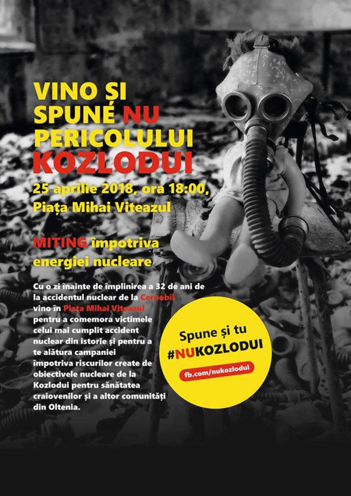 Craiova: MITING împotriva obiectivelor nucleare de la Kozlodui