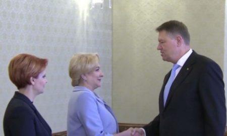 Preşedintelui Iohannis s-a intalnit cu premierul si ministrul Muncii