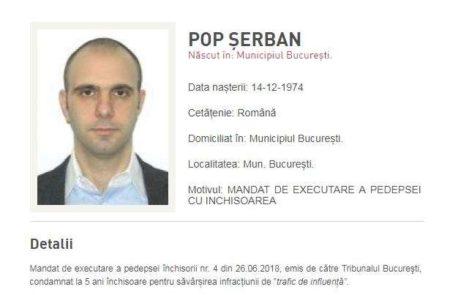 Fostul şef ANAF Şerban Pop, dat în urmărire internaţională