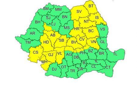 Trei judete din Oltenia, sub avertizare cod galben de ploi