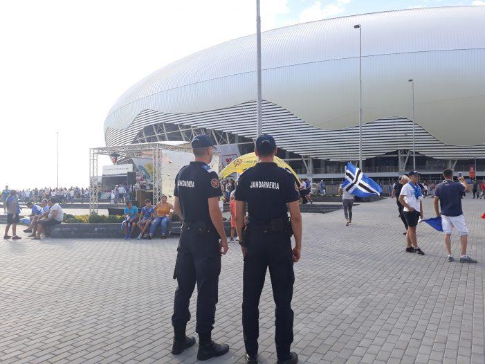 Jandarmii craioveni, măsuri de ordine publică la meciul de handbal feminin SCM Craiova- CSM București