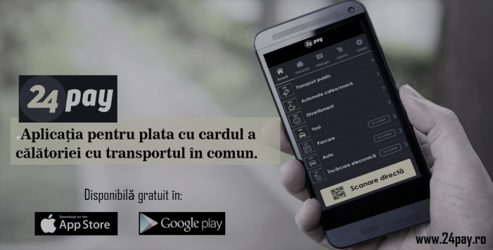 Râmnicu Vâlcea, al cincilea oraș din România care acceptă plata biletelor de transport în comun cu cardul bancar prin intermediul aplicației 24pay