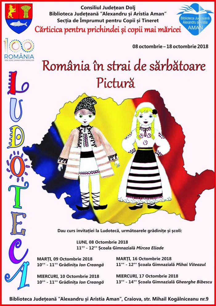 Biblioteca  Aman:  România în strai de sărbătoare – pictură