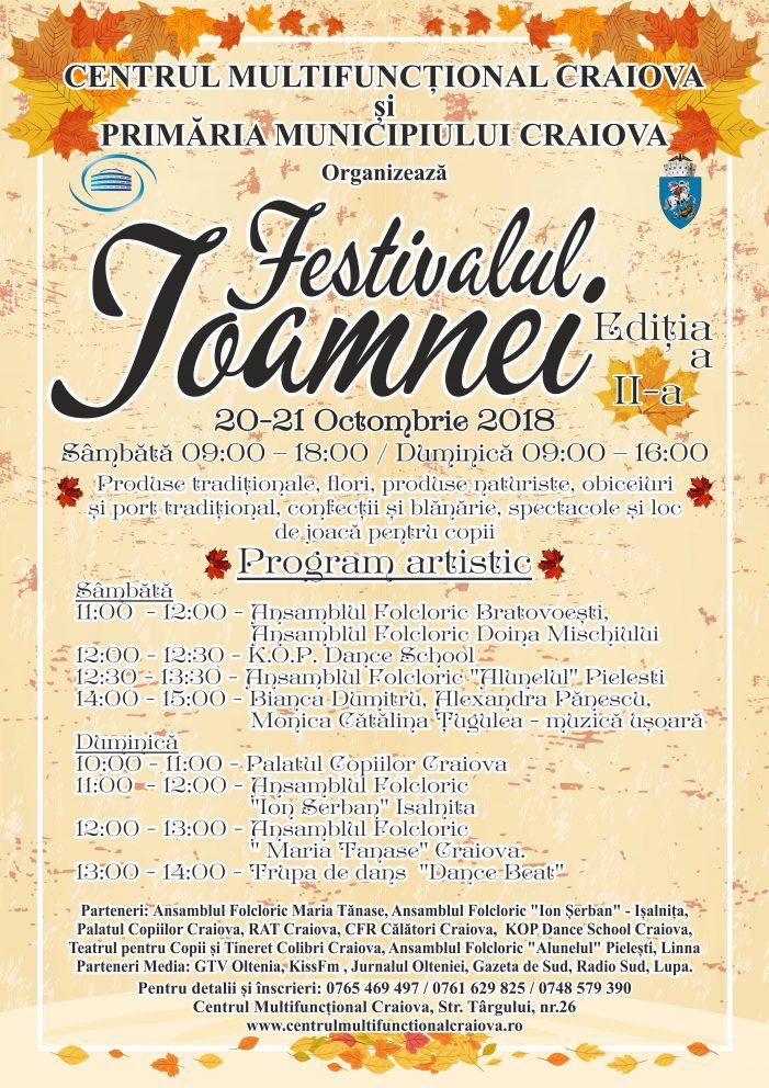 Primăria Craiova: FESTIVALUL TOAMNEI, ediția a-II-a – 20 – 21 octombrie 2018