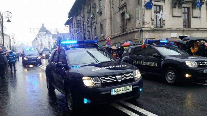 Jandarmii prezenţi la datorie cu ocazia Zilei Naţionale a României