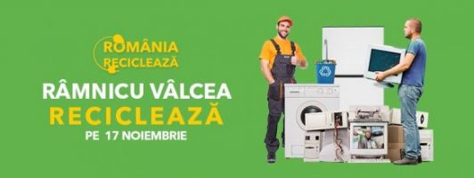 """participă în campania """"România Reciclează"""" Pe 17 noiembrie, locuitorii din Râmnicu Vâlcea, reciclează!"""