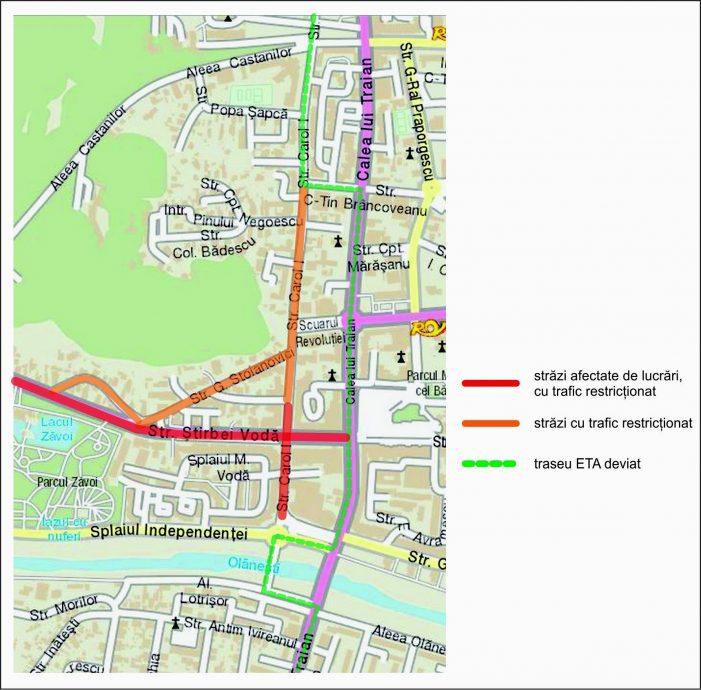 Ca urmare a lucrărilor de asfaltare din zona centrală, autobuzele şi microbuzele SC ETA SA au trasee deviate în perioada 19-26 noiembrie