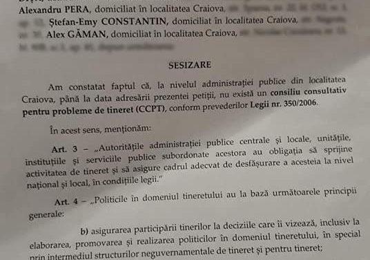 Elevii craioveni,  petiție adresată Primăriei Municipiului Craiova