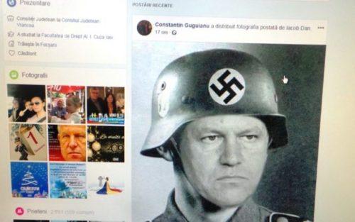 Consilierul judeţean PSD care a postat pe Facebook un trucaj cu preşedintele Klaus Iohannis în haine naziste, a demisionat