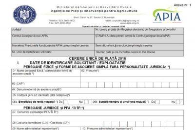 Fermierii doljeni sunt așteptați la sediul centrului județean sau la centrele locale APIA pentru a depune cererile unice de plată pentru anul 2019