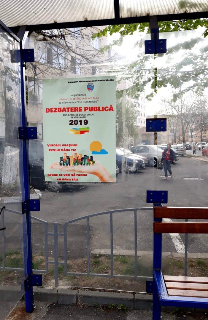 Râmnicenii, invitaţi la dezbaterea publică a proiectului de buget local pe 2019