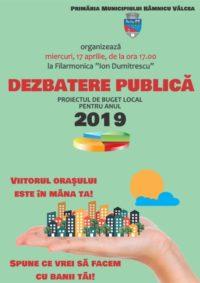dezbatere, valcea, buget, 2019
