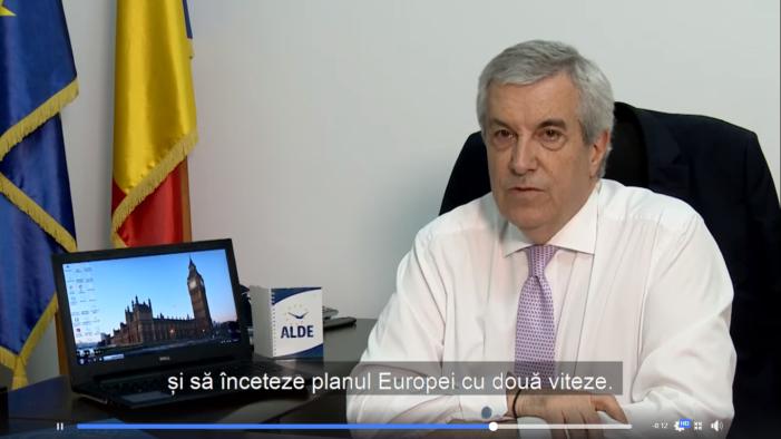 Călin Popescu Tăriceanu, mesaj in limba engleză: Viitoarea conducere a Uniunii trebuie să respecte toate statele membre și să înceteze planul Europei cu două viteze